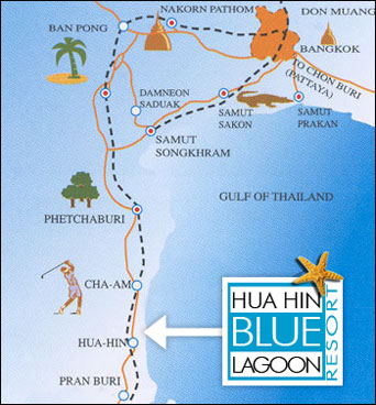 Blue Lagoon Location Map