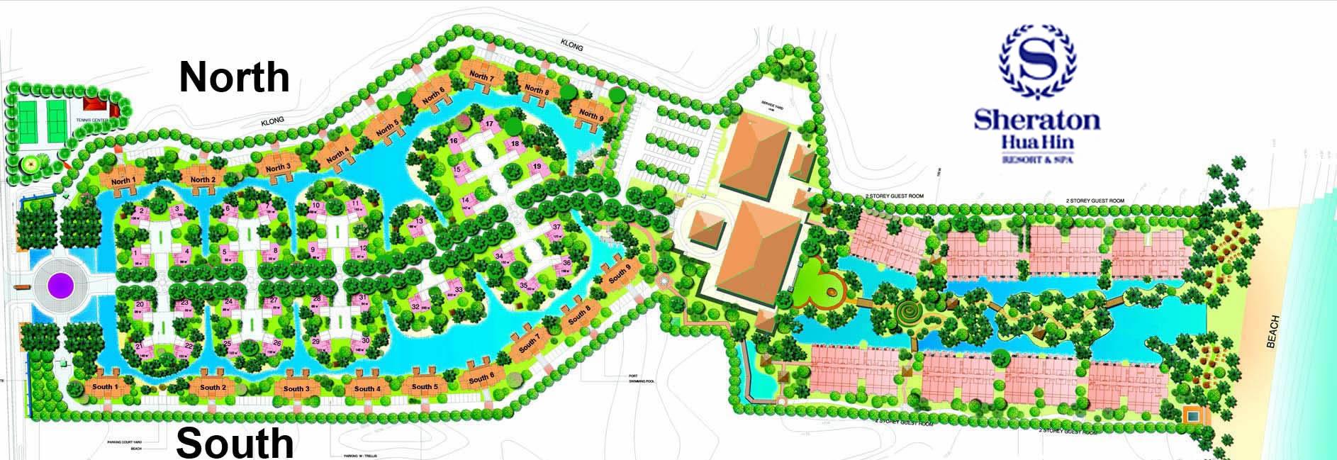 Resort layout blue lagoon hua hin villas and apartments for Hotel layout design