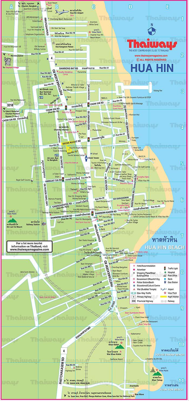 Map of Hua Hin